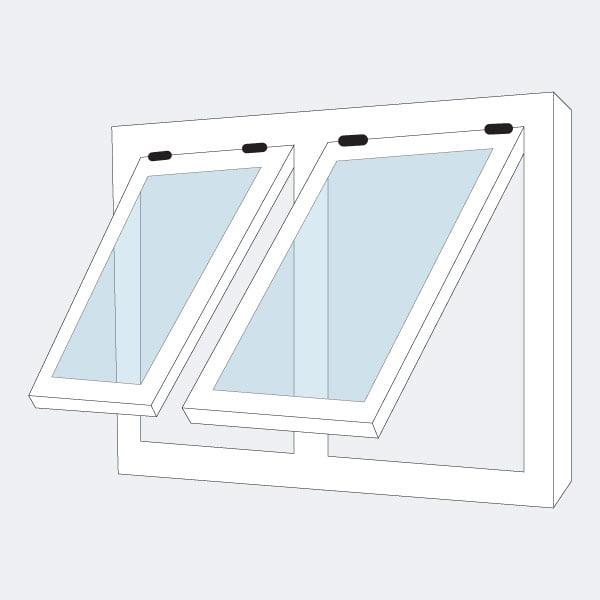 Jendela Jungkit Aluminium