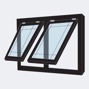 Jendela Kaca Aluminium Murah