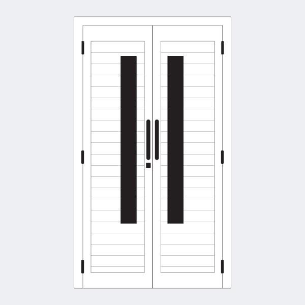Jual Pintu Aluminium Double